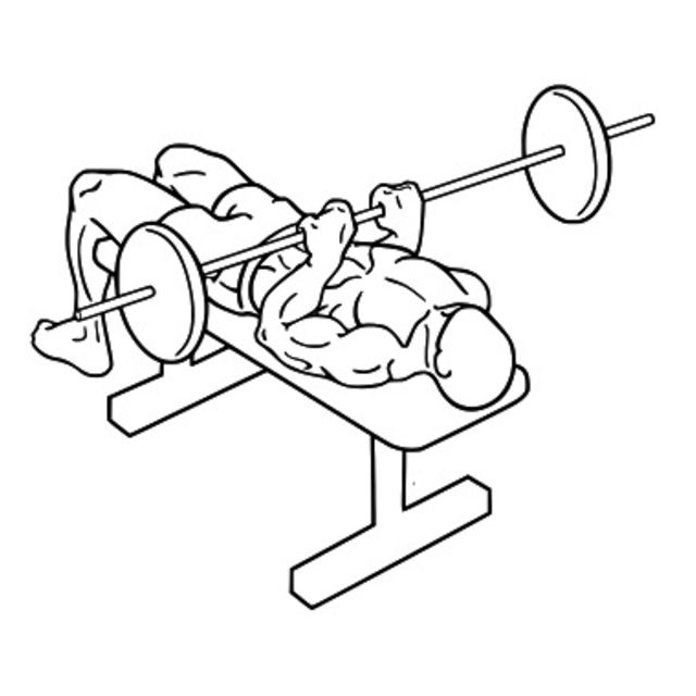 How to do: Close Grip Barbell Bench Press - Step 2