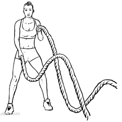 Battle Rope Alternating Waves