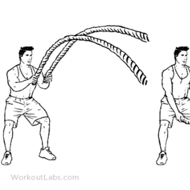 How to do: Battle Rope Double Wave - Step 1