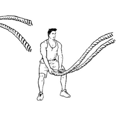 Battle Rope Double Wave
