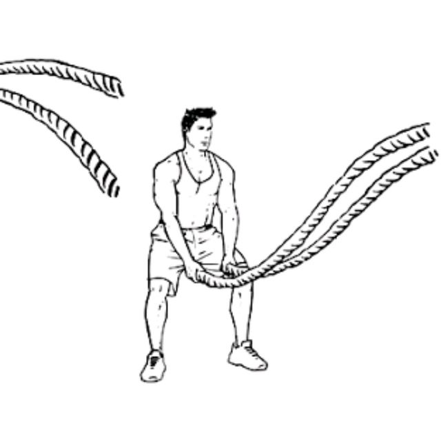 How to do: Battle Rope Double Wave - Step 2