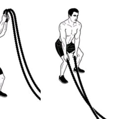 Battle Rope Woodchop Slams