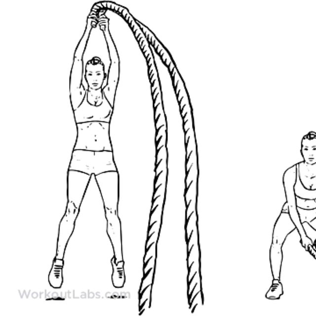 How to do: Battle Rope Slam - Step 1