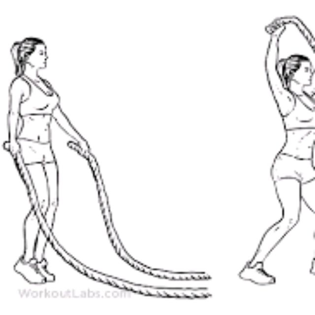 How to do: Battle Rope Jumping Jacks - Step 1