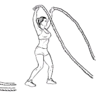 Battle Rope Jumping Jacks