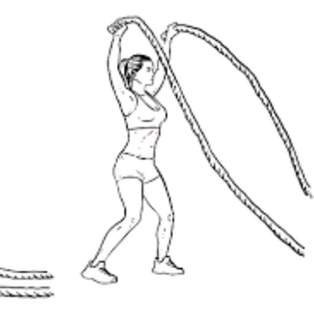 How to do: Battle Rope Jumping Jacks - Step 2
