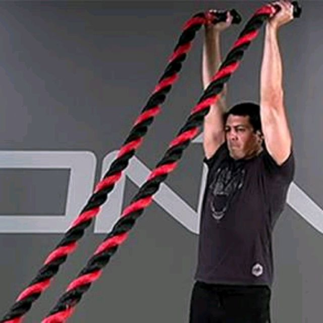 How to do: Battle Rope Shoulder Press - Step 1