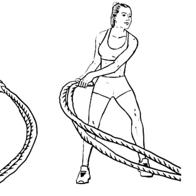 How to do: Battle Rope Double Snake - Step 2