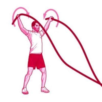 Battle Rope Shoulder Circles