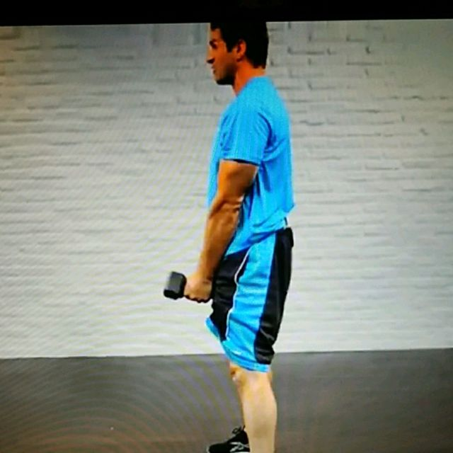 How to do: Pushup position 3lb Dumbbell row with Squat thrust - Step 5