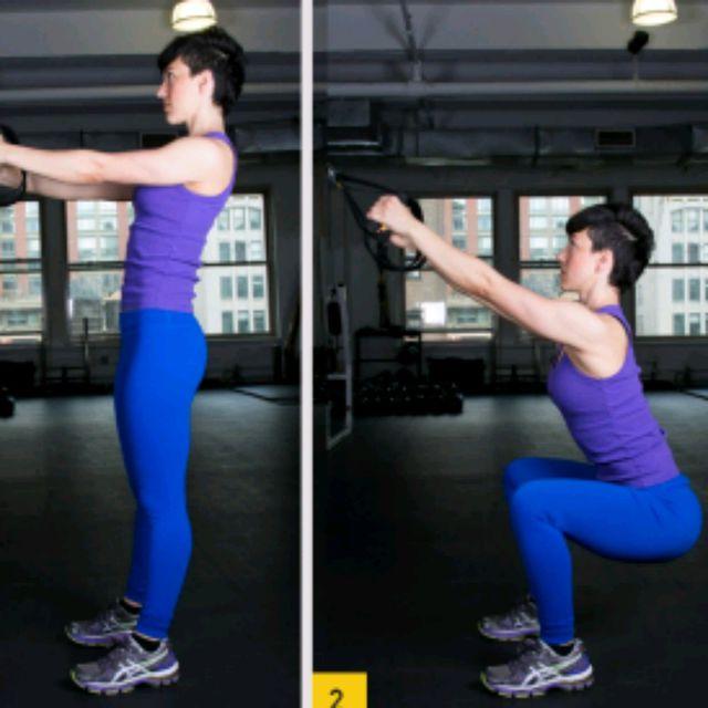 How to do: TRX Squats - Step 1