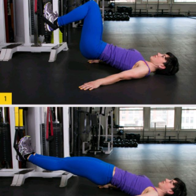 How to do: TRX Hamstring Pull Curls - Step 1