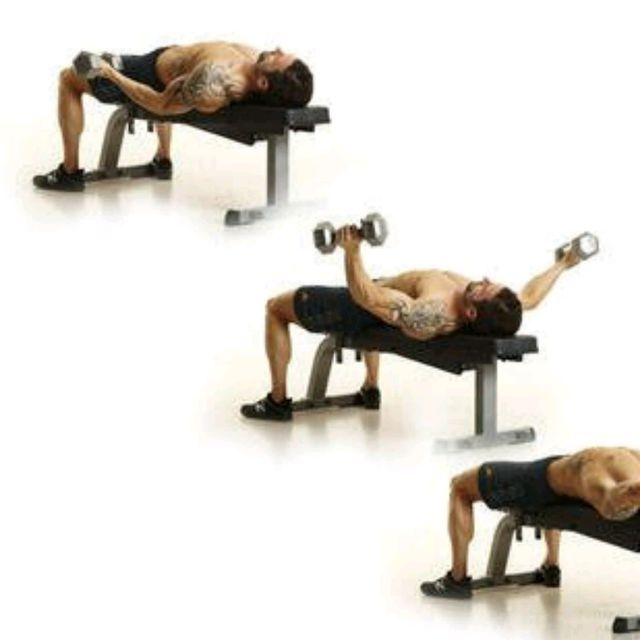 How to do: Lying Dumbbell Around The Worlds - Step 1