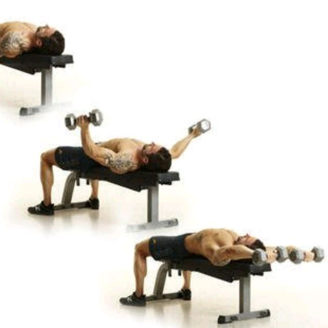 How to do: Lying Dumbbell Around The Worlds - Step 2