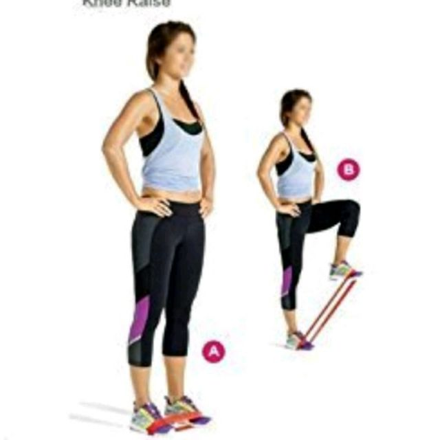 Banded High Knees Exercise How To Workout Trainer By