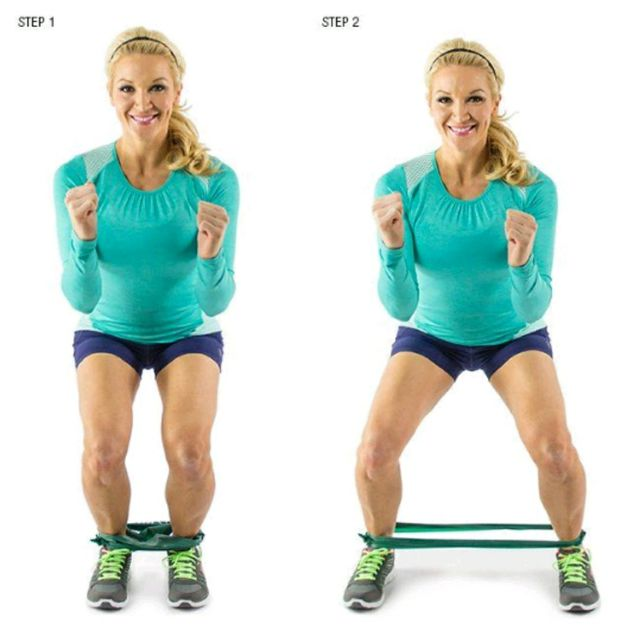 How to do: Banded Side Step - Step 1