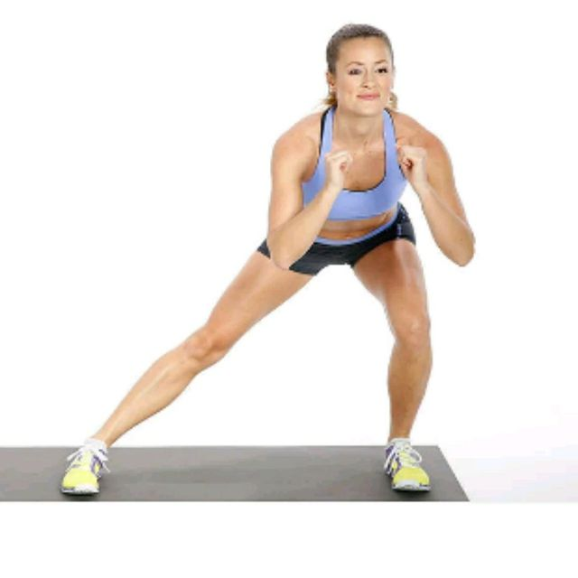 How to do: Side Lunge, Squat, Side Lunge - Step 1