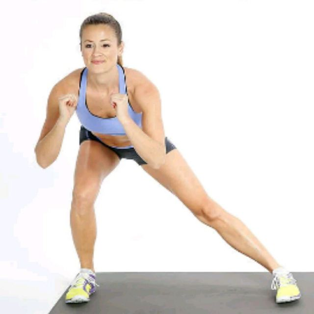 How to do: Side Lunge, Squat, Side Lunge - Step 3