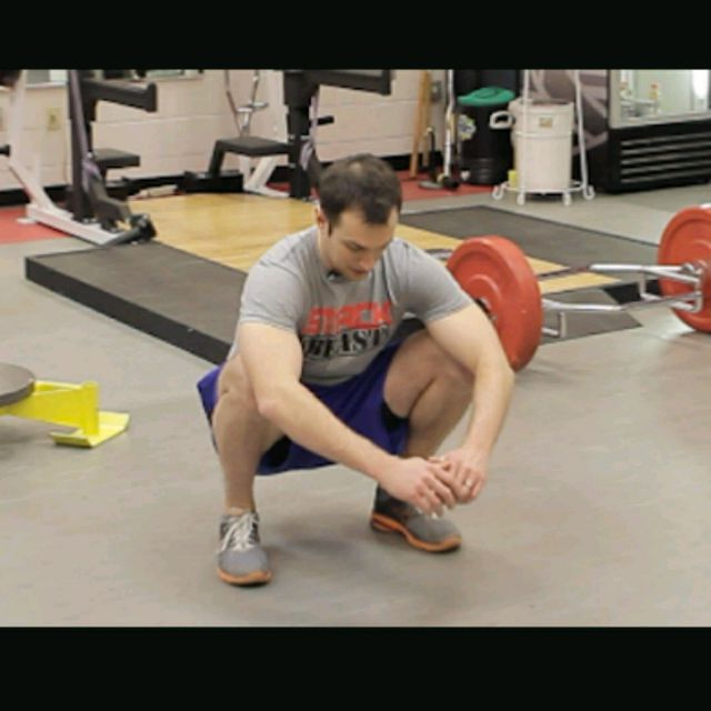 How to do: Low Squat Hold - Step 1
