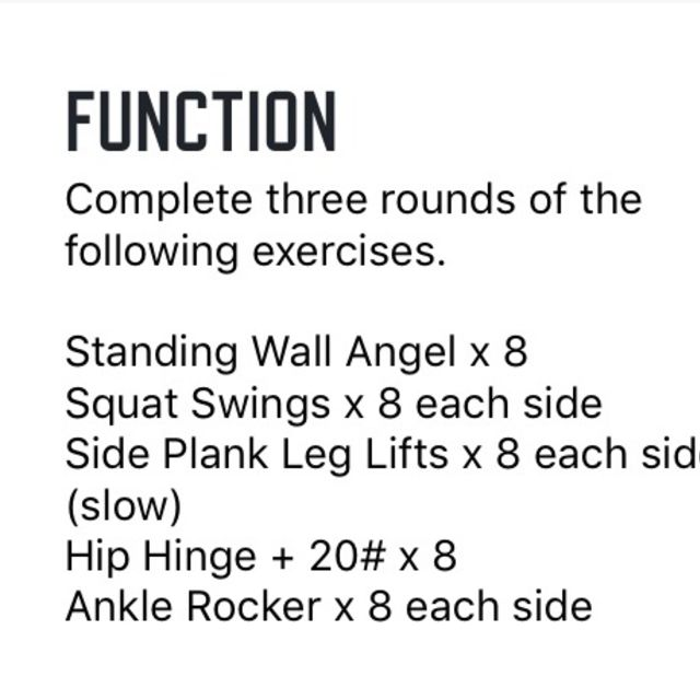 How to do: Function Warmup 10/16 - Step 1