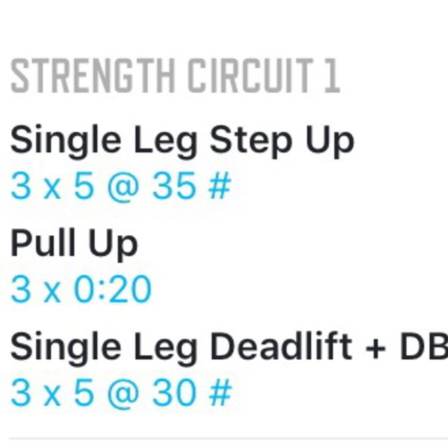 How to do: Strength Circuit 10/16 - Step 1