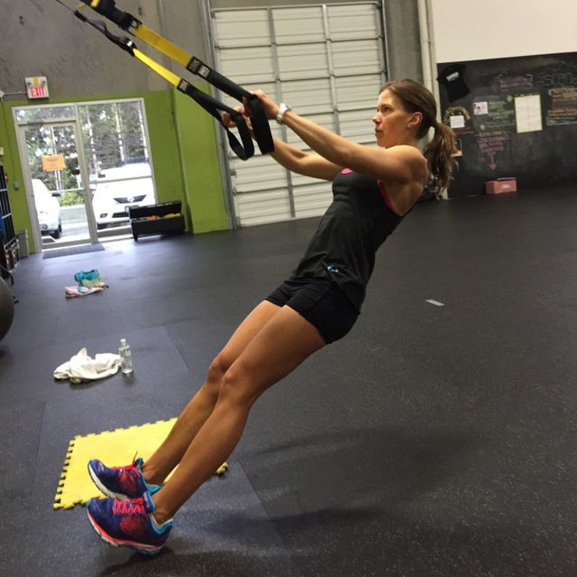 How to do: TRX Bicep Curl - Step 1
