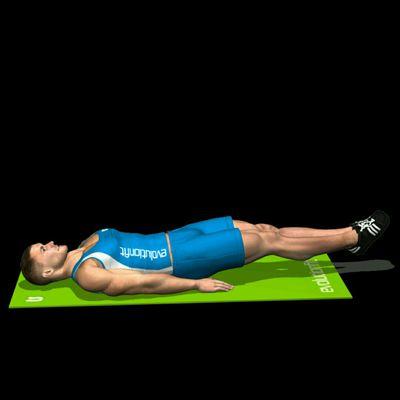 Leg raise gambe piegate