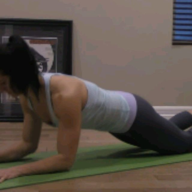 How to do: KNEELING SPHINX PUSH UPS - Step 7