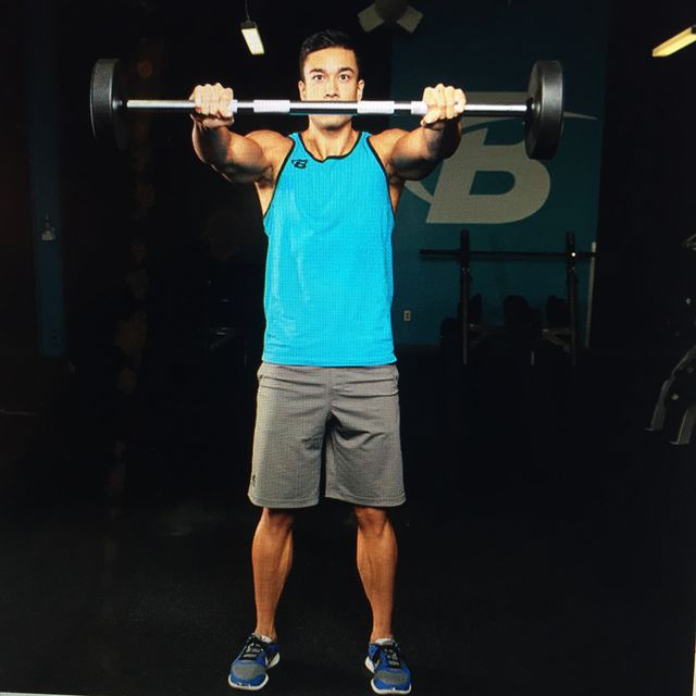 How to do: Barbell Front Raises - Step 1