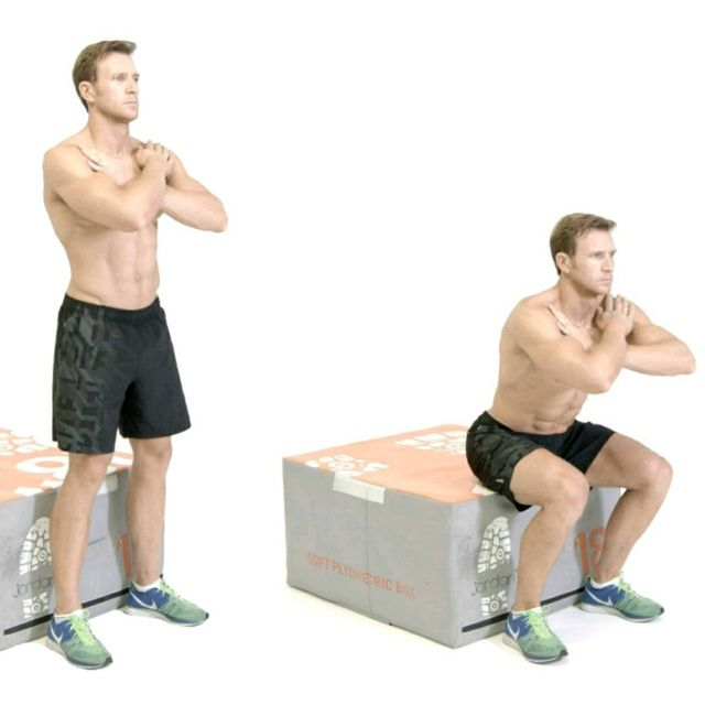How to do: Bench Squat - Step 1