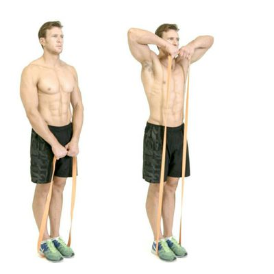 Upright Row with Resistance Band