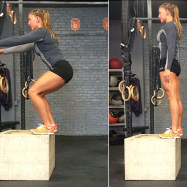 How to do: Box Jump(10 Reps) - Step 1