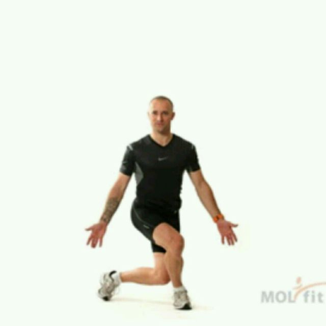 How to do: Alternating Drop Lunge - Step 1