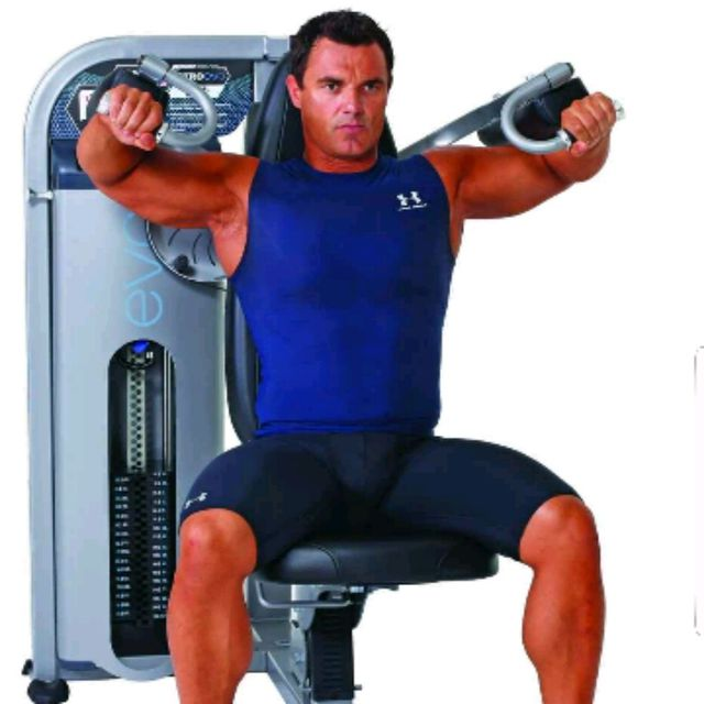 How to do: Lateral Raises (machine) - Step 1