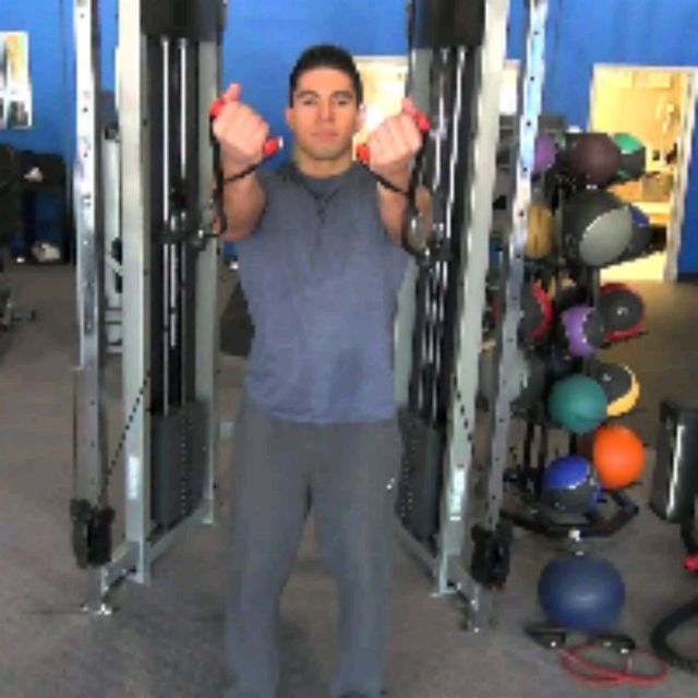 How to do: Underhand Cable Front Raises - Step 1