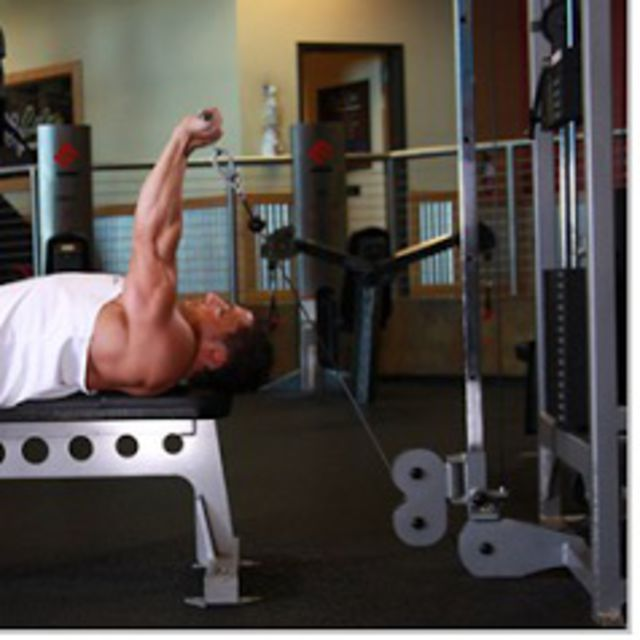 How to do: Cable Lying Triceps Extension - Step 2