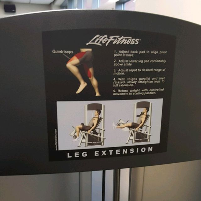 How to do: Leg Extensions - Step 1