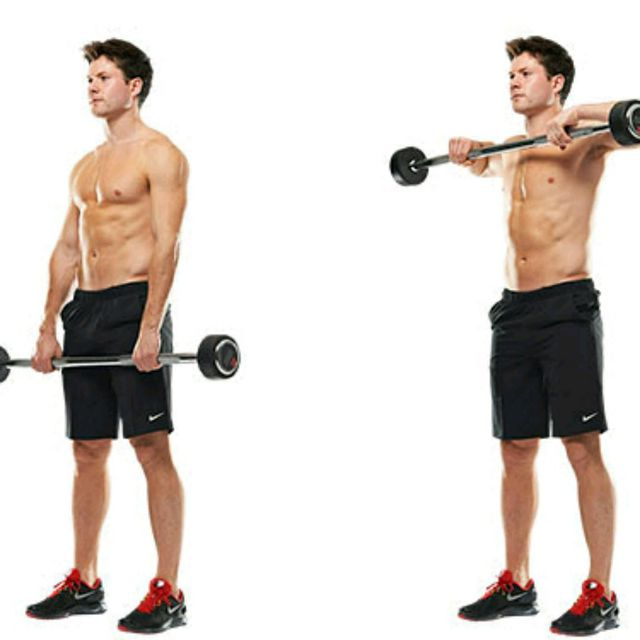 How to do: Wide Grip Upright Row - Step 1