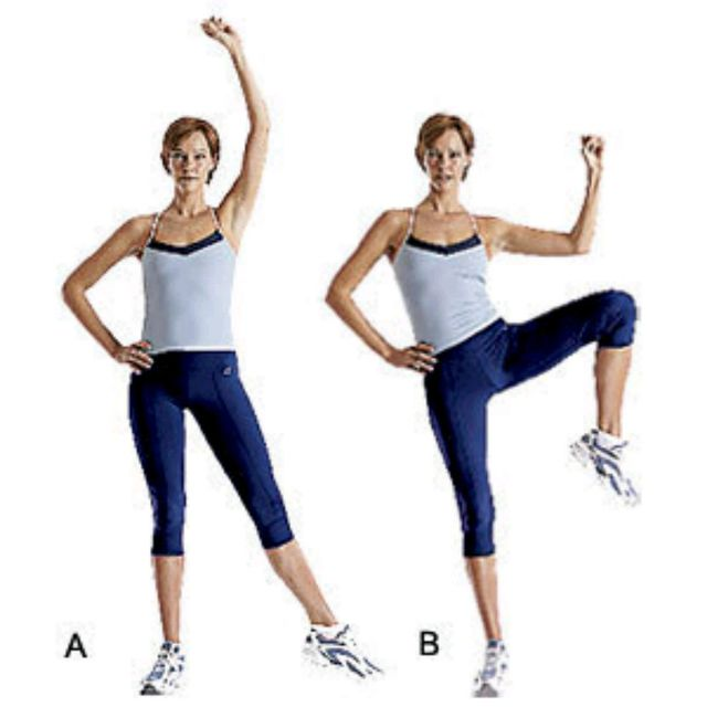 How to do: Standing Oblique Crunches - Step 1