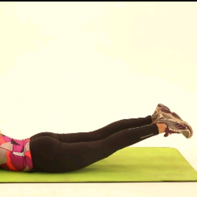 How to do: Prone Glute Scissors - Step 3