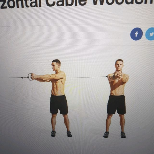 How to do: Horizontal Cable Woodchop - Step 1