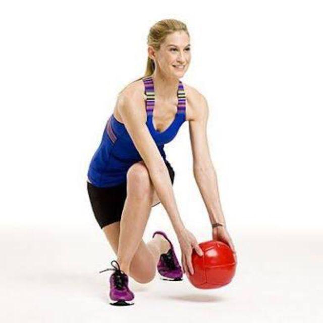 How to do: Skater With Medicine Ball - Step 1