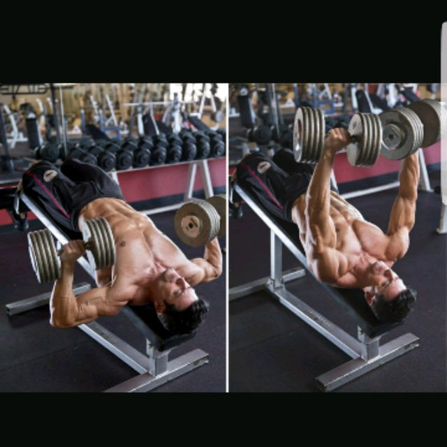 How to do: Decline Bench Press 8 - 10 - Step 2