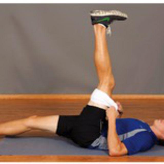 How to do: Towel Hamstring Stretch - Step 1