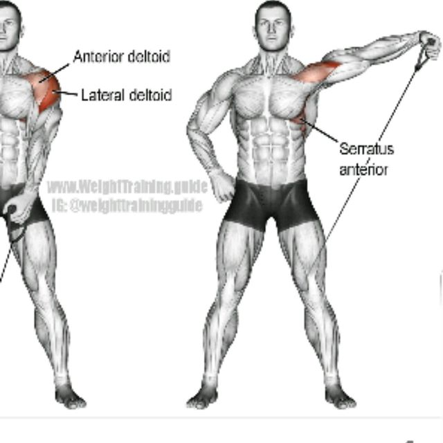 How to do: CABLE SINGLE ARM LATERALS left - Step 1