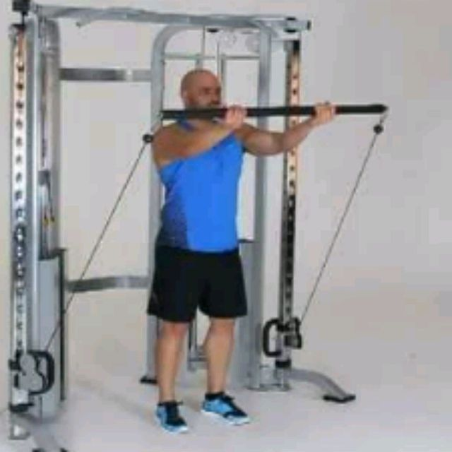 How to do: Cable Underhand Front Grip - Step 2
