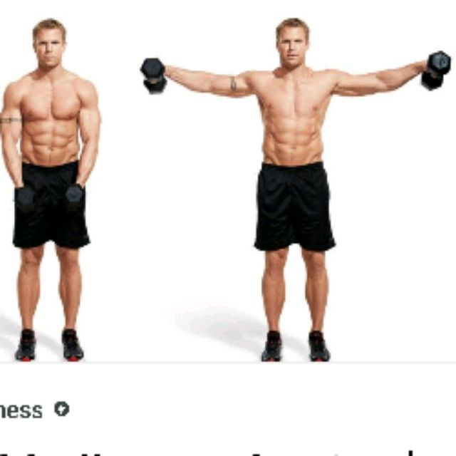 How to do: Dumbbell Side Laterals - Step 1