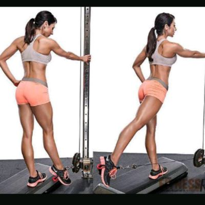 Right Glute Cable Kickbacks