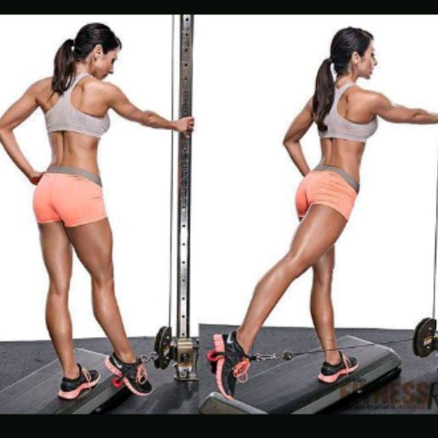 How to do: Left Glute Cable Kickbacks - Step 3