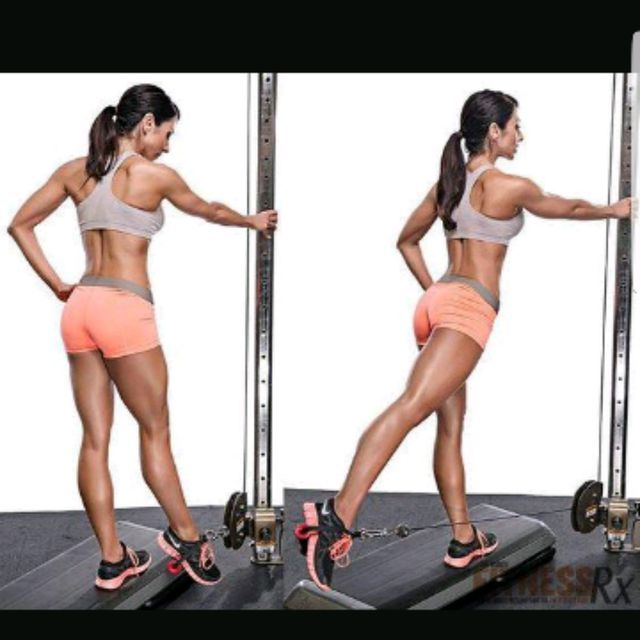 How to do: Left Glute Cable Kickbacks - Step 2